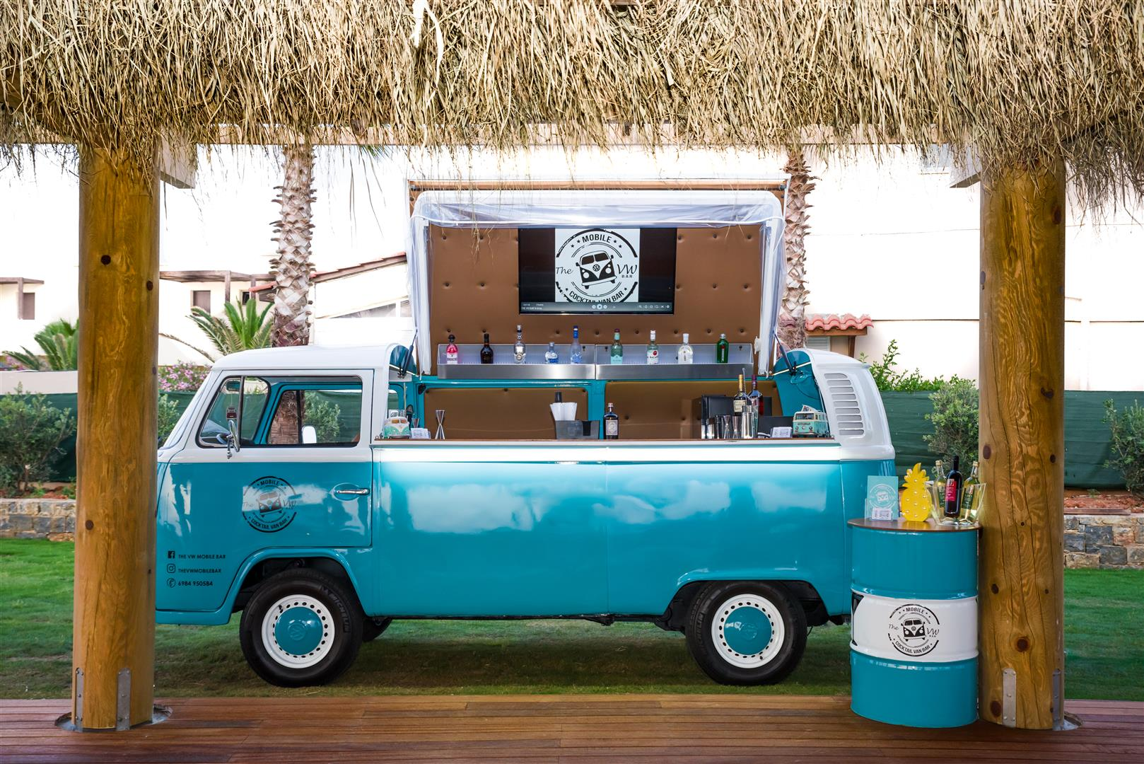 The Vw Mobile Bar The First Mobile Bar In Crete
